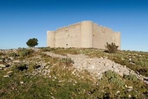 Het middeleeuwse kasteel El Montgri op de top van de montgri berg